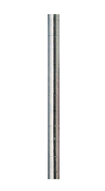 Metro HD Super Shelving Caster Post, Stainless Steel