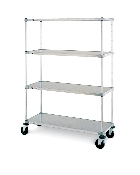 Super Erecta Louver Shelf convenience pak, stainless steel
