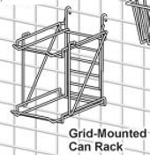 Metro Grid Mounted Can Rack