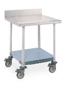 Mobile Lab Table w/Stainless Top & Solid MetroMax i Shelf
