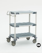 3 Shelf cart shown, 2 Shelf cart similar.