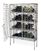 Metro Security Bulk Wine Units, Chrome