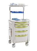 Med/Surge Cart with Overhead