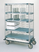 MetroMax Par Level/Stock Cart - Deluxe This image is similar. The aluminum dolly base is not included.