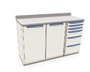 Triple Wide Cabinet with Drawers and Shelf Storage