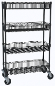 Mobile Basket Shelf Cart