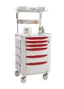 Critical Care Cart with Overhead