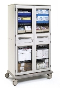 Mobile Cabinet w/Clear Doors - Double-Wide