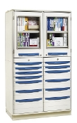 Tall Storage Cabinet - Double Wide