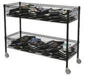 Hot Buy Double-Wide Basket Cart