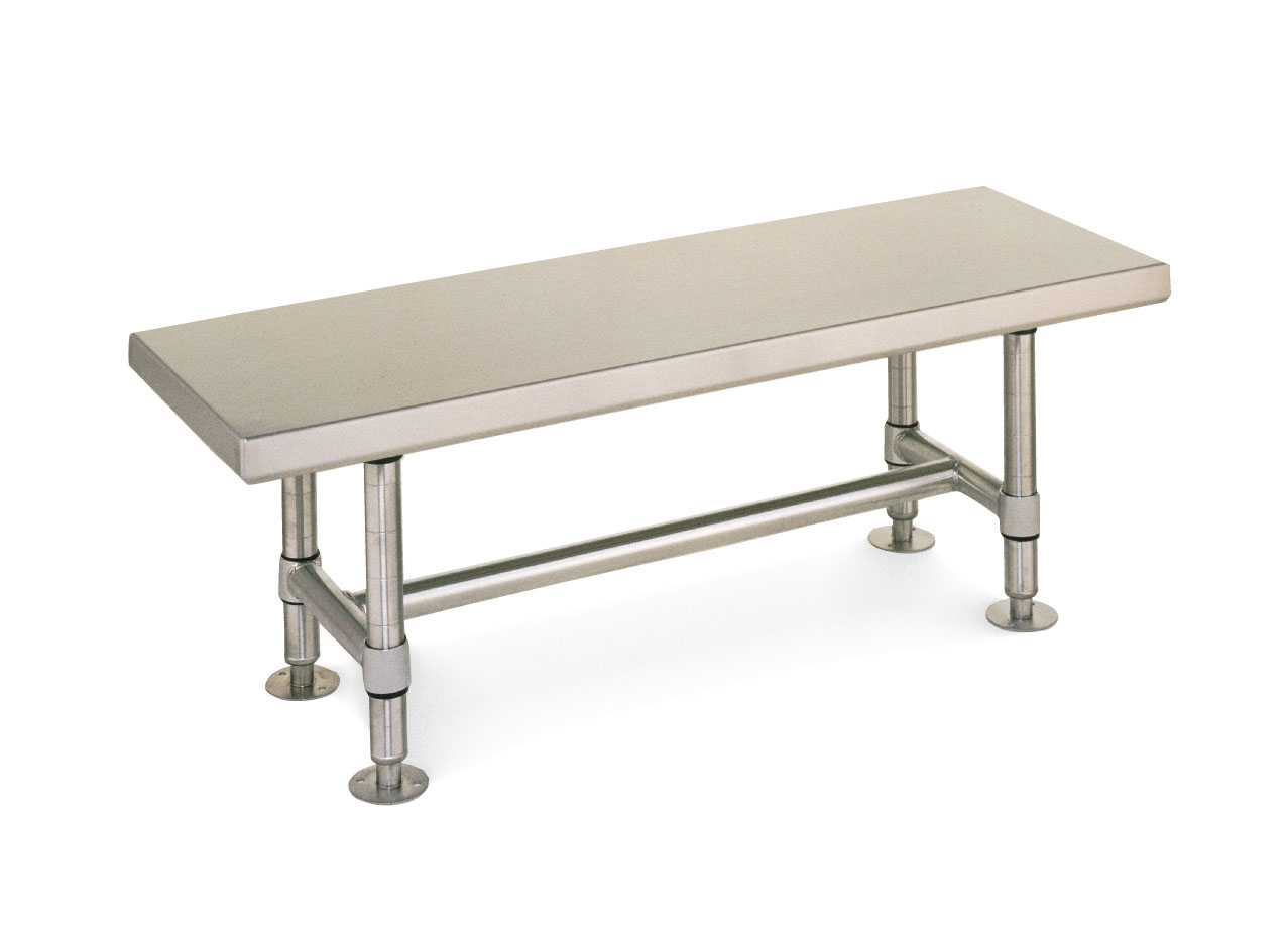 metro gowning bench, stainless steel