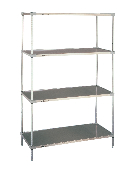 Super Erecta Solid Shelf Convenience Pak, Stainless Steel