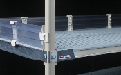 MetroMax i Solid Clear Stackable Shelf Ledges