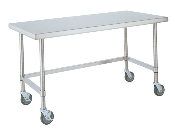 "Mobile Work Table, 30"" wide, 3-sided frame"
