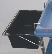 Deep Ledge Bin for storage, shown on left side of image.