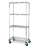 Metro Wire Stem Caster Cart, Chrome