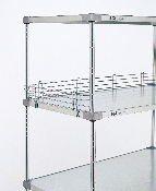 "Metro 4"" Shelf Ledges for Solid Shelves, Stainless Steel"