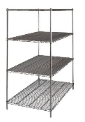 Metro Super Wide Super Erecta Shelving, Stainless Steel
