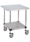Metro Mobile Lab Table w/Stainless Top and Solid HD Shelf
