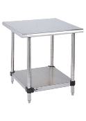 Metro Stationary Lab Table w/Stainless Top and Solid HD Shelf