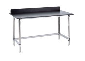Metro Stationary Lab Table w/Phenolic Top and 3-sided frame