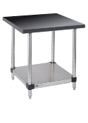 Metro Stationary Lab Table w/Phenolic Top and Solid HD Shelf