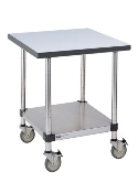 Metro Mobile Lab Table w/Phenolic Top and Solid HD Shelf