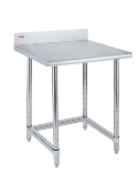 Metro Stationary Lab Table w/Stainless Top and Backsplash