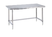 Metro Stationary Lab Table w/Stainless Top and 3-sided frame
