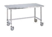 Metro Mobile Lab Table w/Stainless Top and 3-sided frame