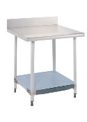 Metro Stationary Lab Table w/Stainless Top & Solid MetroMax i Shelf
