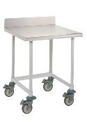 Mobile Lab Table w/Stainless Top & 3-sided frame