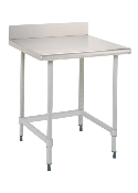 Metro Stationary Lab Table w/Stainless Top & 3-sided frame