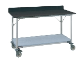 Metro Mobile Lab Table w/Phenolic Top and Solid MetroMax-i shelf
