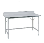 Metro Mobile Lab Table w/Phenolic Top and 3-sided frame
