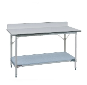 Metro Stationary Lab Table w/Phenolic Top and Solid MetroMax-i shelf