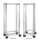 Portable Wire Tray Rack, Side Load on left, End Load on right.