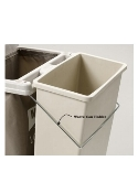 Metro Lodgix Waste Can Holder for Standard height and Tall carts.