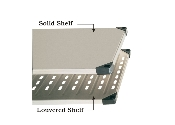 Solid Shelves/Louvered Shelves, Galvanized