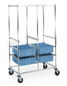 Kitting Carts - Double Bay Image shown with optional Metro Divider Tote Boxes.