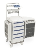 Anesthesia Cart w/Mechanical Keylock