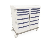 Mobile Cart Double Wide with 12 Drawers