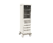 Mobile Supply Cabinet with stainless steel drawers