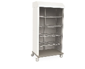 Mobile Supply Cabinet Double-Wide with Tambour Door
