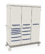 Mobile General Supply Cabinet - Triple Wide