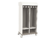 Catheter Storage Cabinet - Double-Wide with Tambour Door