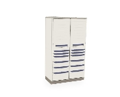 Tall Stationary Cabinet - General Supply - Double Wide