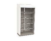 Tall Stationary Cabinet - General Supply - Open Shelves & Tambour Door