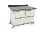 Metro Starsys Double-Wide Unit with 4 file drawers