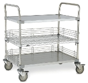 Open Case Cart with Handle Posts